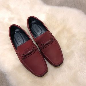 Bally men's burgundy loafers